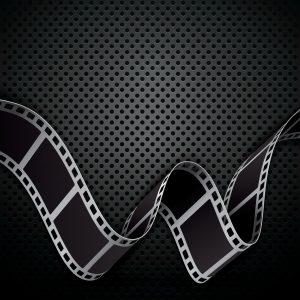film frames on black background