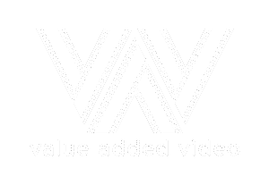 value added video logo white