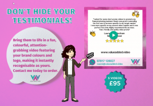 Testimonial videos package from Value Added Video